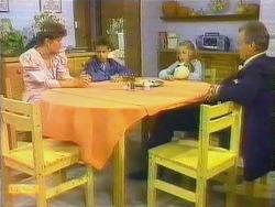Beverly Marshall, Todd Landers, Katie Landers, Jim Robinson in Neighbours Episode 0662
