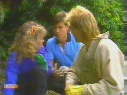 Charlene Mitchell, Mike Young, Scott Robinson in Neighbours Episode 0662