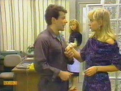 Tony Romeo, Sally Wells, Jane Harris in Neighbours Episode 0663