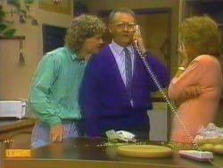 Henry Ramsay, Harold Bishop, Madge Bishop in Neighbours Episode 0664