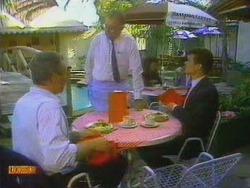 Jim Robinson, Harold Bishop, Paul Robinson in Neighbours Episode 0665