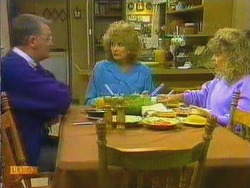 Harold Bishop, Madge Ramsay, Charlene Robinson in Neighbours Episode 0665