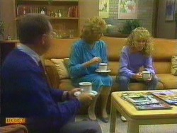 Harold Bishop, Madge Bishop, Charlene Mitchell in Neighbours Episode 0665