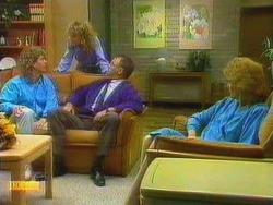 Henry Ramsay, Charlene Robinson, Harold Bishop, Madge Ramsay in Neighbours Episode 0665