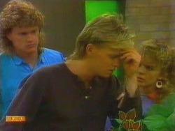 Henry Ramsay, Scott Robinson, Charlene Mitchell in Neighbours Episode 0665