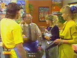 Mike Young, Harold Bishop, Charlene Robinson, Jane Harris in Neighbours Episode 0666