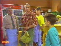 Harold Bishop, Jim Robinson, Mike Young, Todd Landers in Neighbours Episode 0666