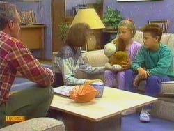 Jim Robinson, Beverly Marshall, Katie Landers, Todd Landers in Neighbours Episode 0667