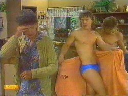 Nell Mangel, Henry Ramsay, Scott Robinson in Neighbours Episode 0667