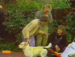 Bouncer, Nell Mangel, Scott Robinson, Henry Ramsay in Neighbours Episode 0667