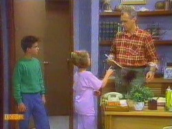 Todd Landers, Katie Landers, Jim Robinson in Neighbours Episode 0667