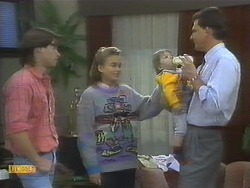 Mike Young, Bronwyn Davies, Jamie Clarke, Des Clarke in Neighbours Episode 0782