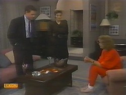 Paul Robinson, Gail Robinson, Madge Bishop in Neighbours Episode 0783