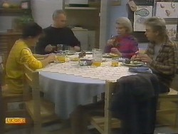 Todd Landers, Jim Robinson, Helen Daniels, Nick Page in Neighbours Episode 0783