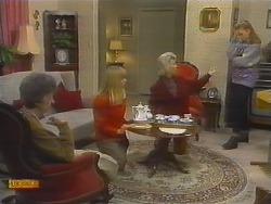 Nell Mangel, Jane Harris, Helen Daniels, Bronwyn Davies in Neighbours Episode 0784