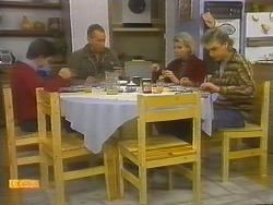 Todd Landers, Jim Robinson, Helen Daniels, Nick Page in Neighbours Episode 0784