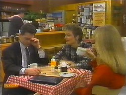 Harold Bishop, Paul Robinson, Gail Robinson, Jane Harris in Neighbours Episode 0784