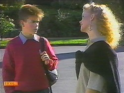 Todd Landers, Sharon Davies in Neighbours Episode 0785