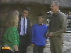 Sharon Davies, Paul Robinson, Todd Landers, Jim Robinson in Neighbours Episode 0785