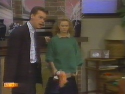 Paul Robinson, Sharon Davies in Neighbours Episode 0785
