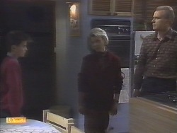Todd Landers, Helen Daniels, Jim Robinson in Neighbours Episode 0787