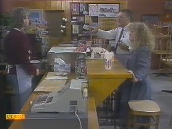 Nick Page, Harold Bishop, Sharon Davies in Neighbours Episode 0787