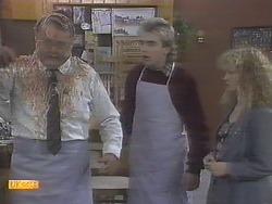 Harold Bishop, Nick Page, Sharon Davies in Neighbours Episode 0788