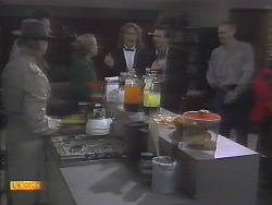 Scott Robinson, Des Clarke, Bronwyn Davies, Henry Ramsay, Mike Young, Jim Robinson in Neighbours Episode 0788