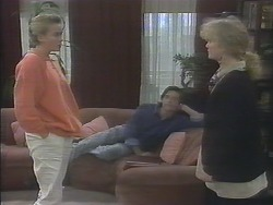 Bronwyn Davies, Mike Young, Sharon Davies in Neighbours Episode 0790