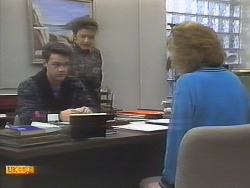 Paul Robinson, Gail Robinson, Madge Bishop in Neighbours Episode 0790