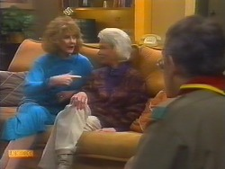 Madge Bishop, Helen Daniels, Harold Bishop in Neighbours Episode 0791