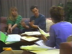 Jane Harris, Paul Robinson, Gail Robinson in Neighbours Episode 0792