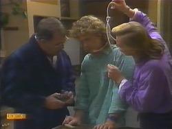 Harold Bishop, Henry Ramsay, Scott Robinson in Neighbours Episode 0792