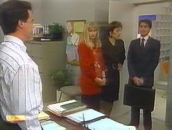 Paul Robinson, Jane Harris, Gail Robinson, Derek Morris in Neighbours Episode 0792
