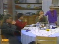 Nick Page, Todd Landers, Jim Robinson, Helen Daniels in Neighbours Episode 0793