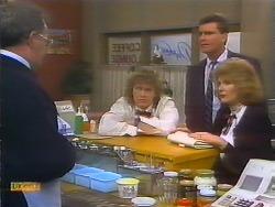 Harold Bishop, Henry Ramsay, Des Clarke, Madge Bishop in Neighbours Episode 0793