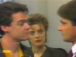 Paul Robinson, Gail Robinson, Derek Morris in Neighbours Episode 0793
