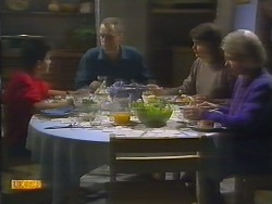 Todd Landers, Jim Robinson, Beverly Marshall, Helen Daniels in Neighbours Episode 0793
