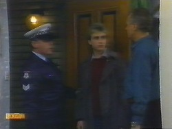 Policeman, Nick Page, Jim Robinson in Neighbours Episode 0793