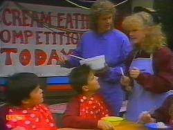 Gary Lim, Todd Landers, Henry Ramsay, Sharon Davies in Neighbours Episode 0795