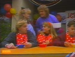 Scott Robinson, Sharon Davies, Henry Ramsay, Bronwyn Davies in Neighbours Episode 0795