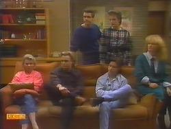 Helen Daniels, Scott Robinson, Paul Robinson, Mike Young, Gail Robinson, Sharon Davies in Neighbours Episode 0797