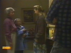 Helen Daniels, Katie Landers, Bronwyn Davies, Mike Young in Neighbours Episode 0806