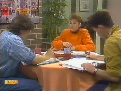 Mike Young, Jackie Vidor, Brad Fuller in Neighbours Episode 0806
