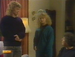 Henry Ramsay, Sharon Davies, Edith Chubb in Neighbours Episode 0807