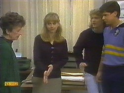Nell Mangel, Jane Harris, Henry Ramsay, Joe Mangel in Neighbours Episode 0809