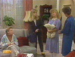 Bronwyn Davies, Jane Harris, Sharon Davies, Nell Mangel in Neighbours Episode 0810