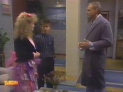 Sharon Davies, Todd Landers, Jim Robinson in Neighbours Episode 0811