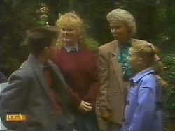 Todd Landers, Sharon Davies, Helen Daniels, Katie Landers in Neighbours Episode 0811