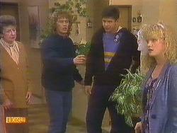 Nell Mangel, Henry Ramsay, Joe Mangel, Sharon Davies in Neighbours Episode 0814